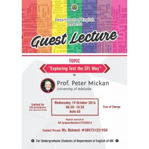 """Guest Lecture """"Exploring Text the SFL Way"""""""