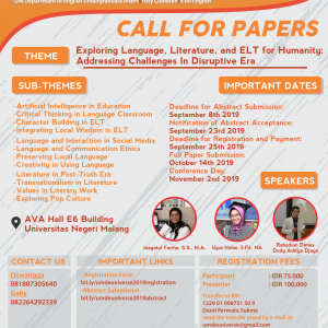 Call For Papers! UM DE Universe 2019