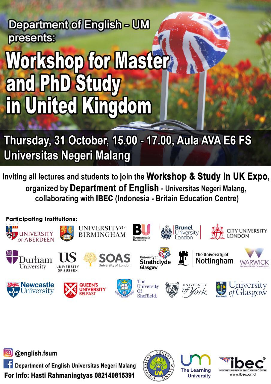 Workshop for Master and PhD Study in United Kingdom