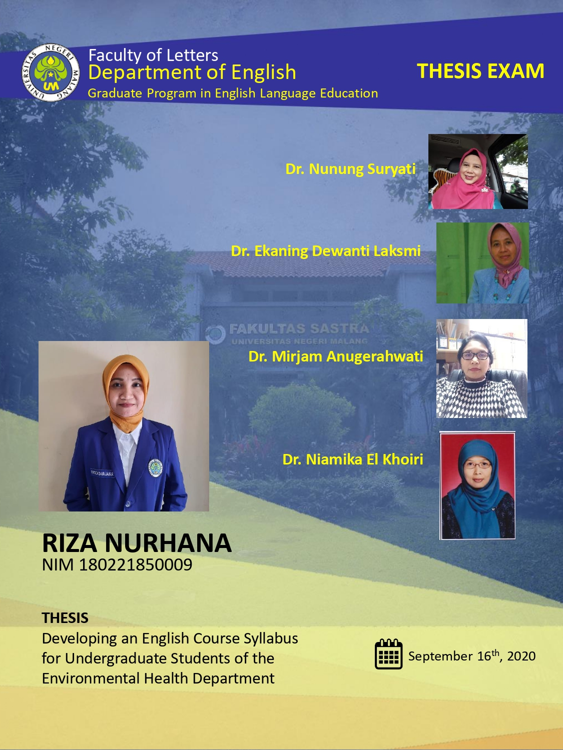 Virtual Thesis Examination S2 Riza Nurhana