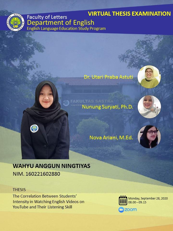 Thesis Examination: Wahyu Anggun Ningtiyas