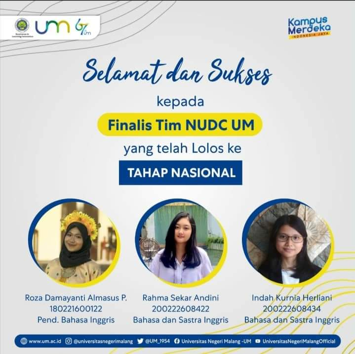 Congratulations to NUDC Team Finalists