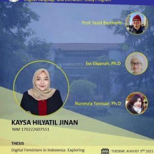 Virtual Thesis Examination KAYSA HILYATIL JINAN