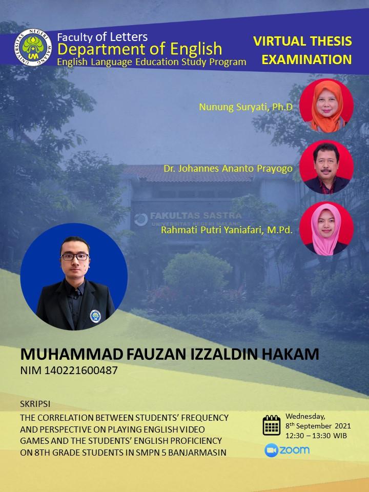 Virtual Thesis Examination Muhammad Fauzan Izzaldin Hakam