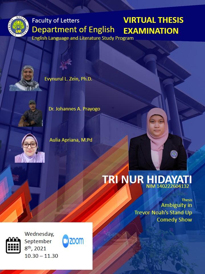 Virtual Thesis Examination TRI NUR HIDAYATI
