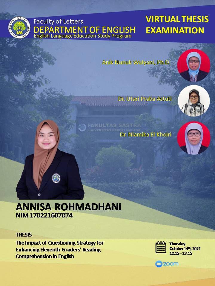Virtual Thesis Examination ANNISA ROHMADHANI